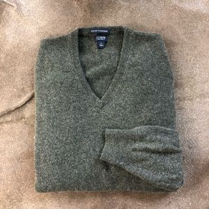 J Crew Cashmere Italian V Neck Sweater Men's